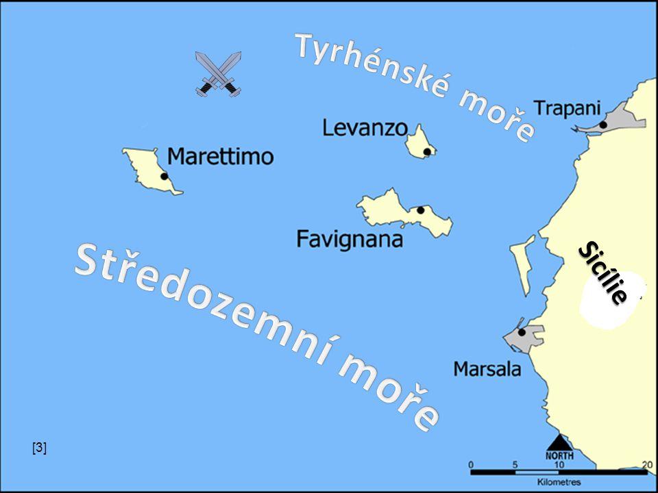Tyrhénské moře Sicílie Středozemní moře [3]